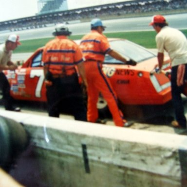 Dave Marcis pit stop at Talledaga.  7/27/86