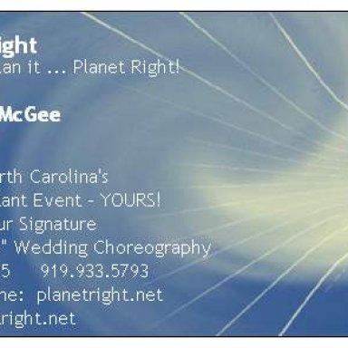 Planet Right Biz Card