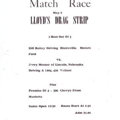 Lloyd's Drag Strip flyer