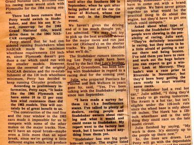 Studebaker for Pettys in 1964?