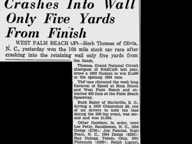 1954 Palm Beach Speedway