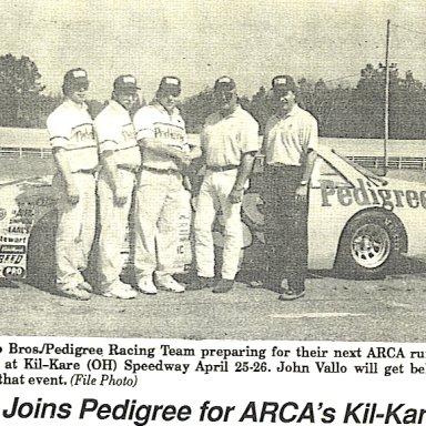 1992 ARCA #39 Team Photo