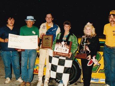 Feature Win (#108), John Nuckles Memorial 100 Lap, Columbus Motor Speedway, Aug 3, 1986