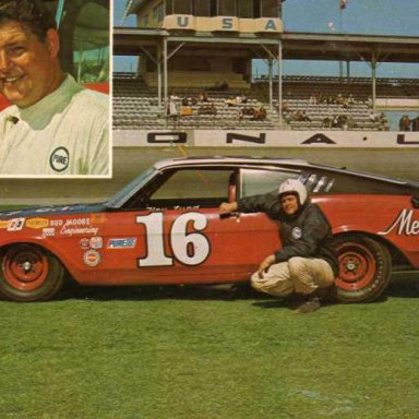 Tiny Lund/Bud Moore 1968 Mercury Cyclone