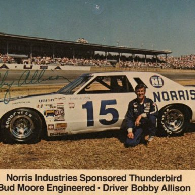 Bobby Allison/Bud Moore 1977 Thunder Bird