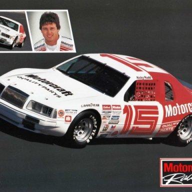 Ricky Rudd/Bud Moore 1986 Ford Thunderbird
