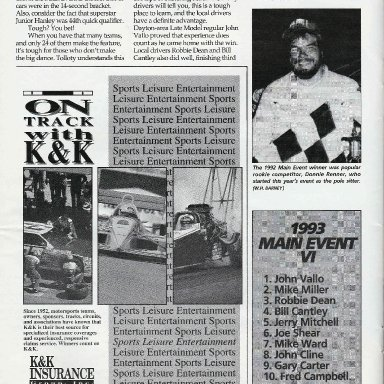 Short Track Racing Magazine Cover, Page 44, Jan 1994
