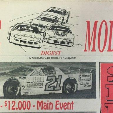 Late Model Digest Cover, Nov 3, 1993