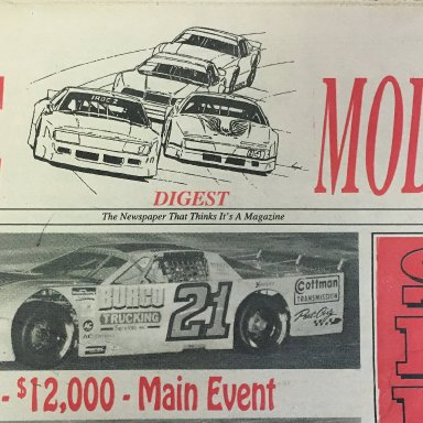 Late Model Digest Cover, Nov 3, 1993