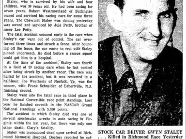 March 1958 Gwyn Staley