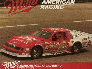 Mark Martin/ASA  series Thunderbird