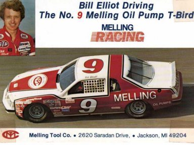 Bill Elliott/Harry Melling 1983 Ford Thunderbird