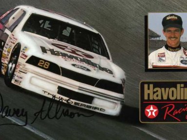 Davey Allison/Ranier-Lundy 1987 Ford Thunderbird