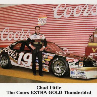Chad Little.. Winnston Cup Series West 1987 Ford Thunderbird