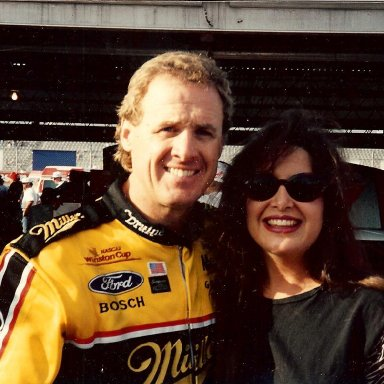 Rusty Wallace and Stacie
