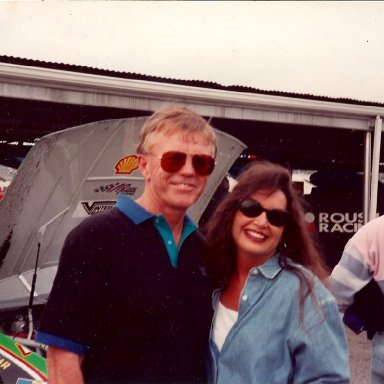 Joe Gibbs and Stacie