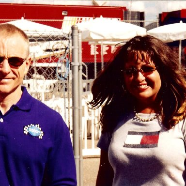 Mark Martin and Stacie