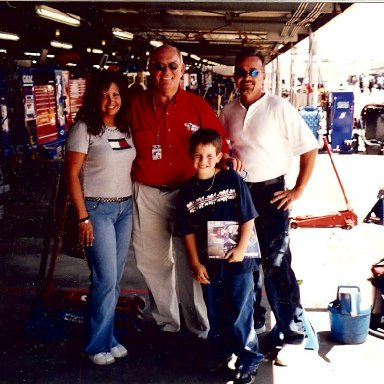 Stacie, Benny Parsons, Dylan, Russell