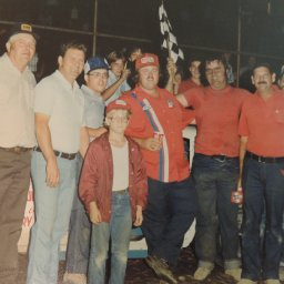 Mack Hyatt with owners and crew