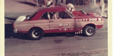 All fiberglass Ford Falcon at Starlite 25 Dragstrip in Ware Shoals, SC