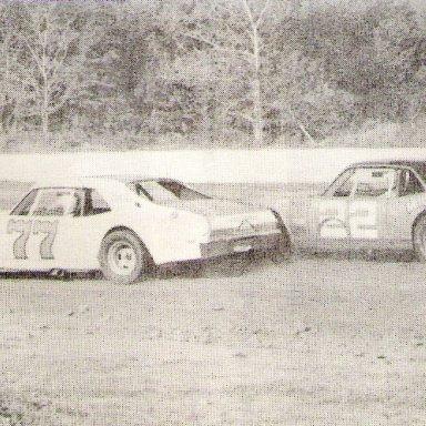 Bud Elliott & JE Beard Wilson Co Speedway '75