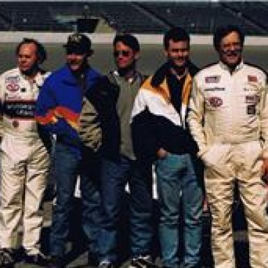 Drivers at Daytona test
