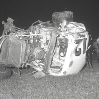 Merv Treichler Sandman 12 coupe wreck 1968