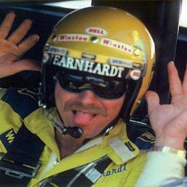 Dale Earnhardt having some fun