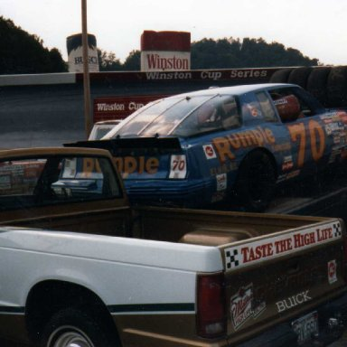 JD Mcduffie Car at Bristol