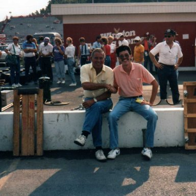 Me and David Pearson at Bristol