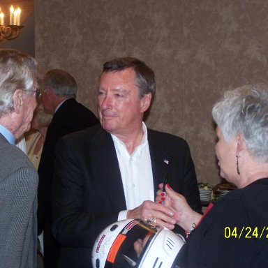 Ray Fox, Johnny Rutherford and Wanda Lund Early