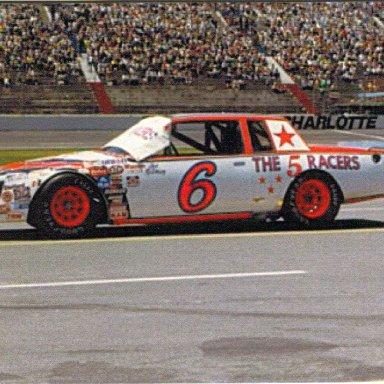 1981 #6 Joe Ruttman The 5 Racers (Jim Stacy)