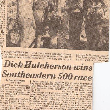 Dick Hutcherson Newspaper Clipping