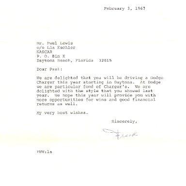 Chrysler Letter