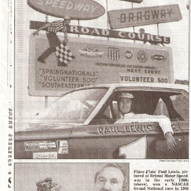 Paul Lewis Newspaper Clipping