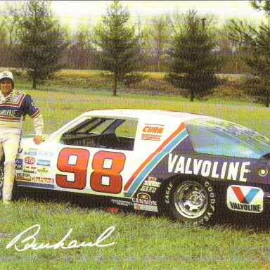 1986 #98 Ron Bouchard Valvoline