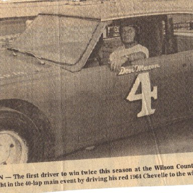 Don Macon 1969 Wilson County Speedway NC