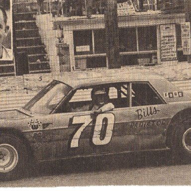 Glen McDuffie after a victory at Wilson county Speedway in 1969