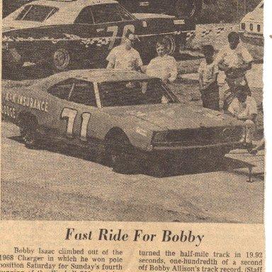 Bobby Isaac Asheville-Weaverville 1969