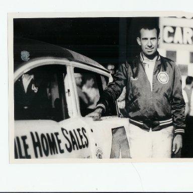 Ned Jarrett next to Herbert Corley built car