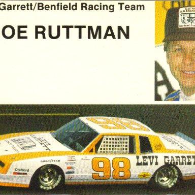 1983 #98 Joe Ruttman Levi Garrett