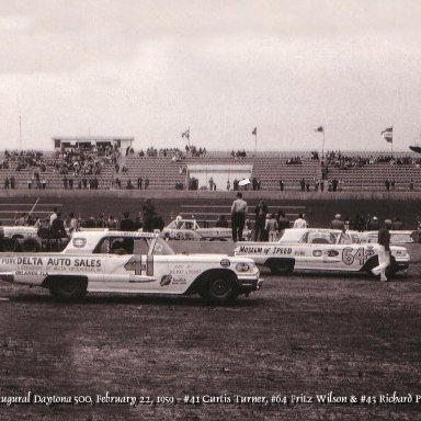 Curtis Turner, Fritz Wilson, Richard Petty 1959