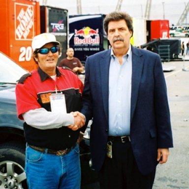 Lee Roy Mercer & NASCAR President Mike Helton