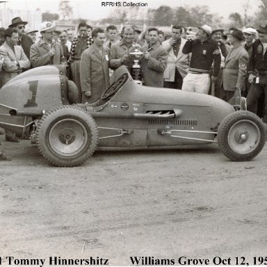 #1 Tommy Hinnershitz Williams Grove 1952