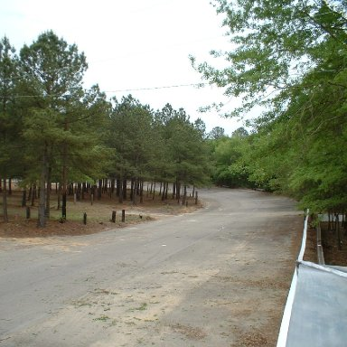 View of Turn 1 from Flagstand/Columbia Speedway