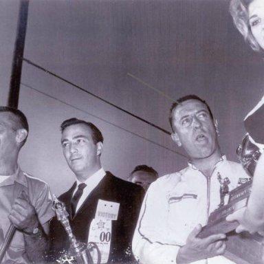 Rex White victory lane