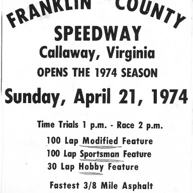 FCS Promo from a Martinsville Speedway program