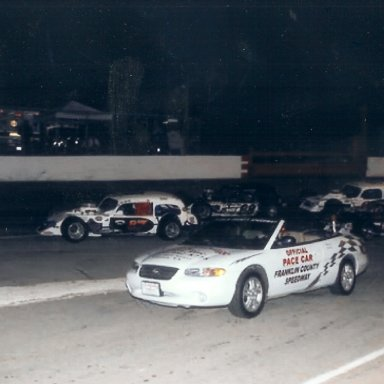 Jerry leading race at Franklin Co.