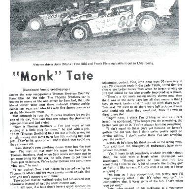 Monk and Frank Flemming battling on dirt