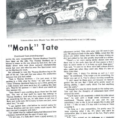 Monk and Frank Flemming battling on dirt
